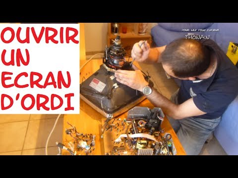 ludik experiences n 5 ouvrir un ecran d 39 ordinateur disassembling computer monitor youtube. Black Bedroom Furniture Sets. Home Design Ideas