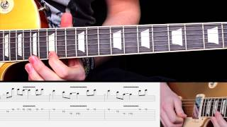 Fade To Black by Metallica Guitar Lesson with TABS INTRO LEAD PART