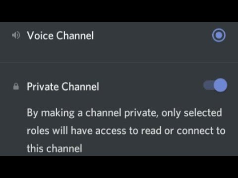How To Create Private Voice Channel On Discord 2020