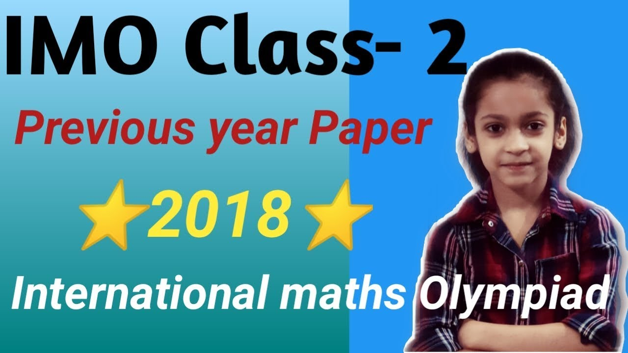 IMO Class 2 Previous year Paper 2018| Olympiad exam| Set-A #imo #class2 #2018-19
