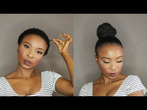 How To | Top Knot High Bun on Short Natural Hair