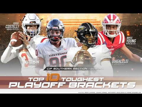 Top 10 Toughest High School Football Playoff Brackets