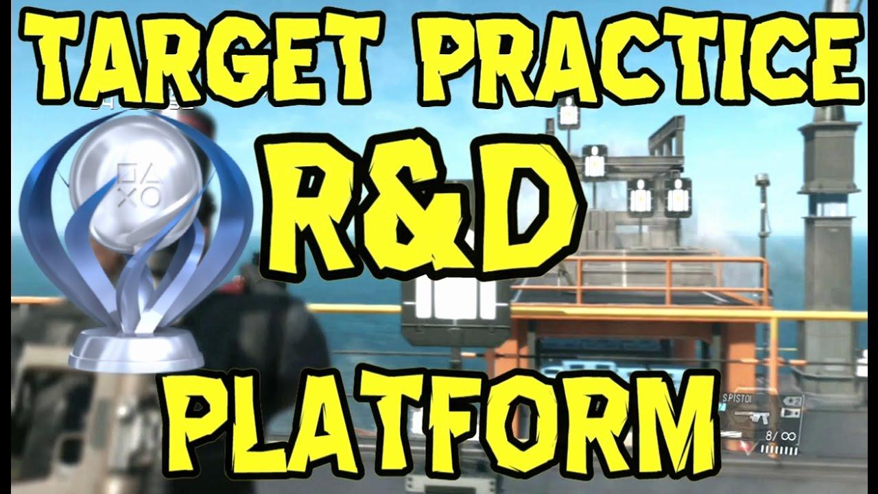 metal gear solid 5 r d platform target practice all target