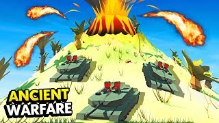 BATTLE ON THE VOLCANO IN ANCIENT WARFARE 3 (Ancient Warfare 3 Funny Gameplay)