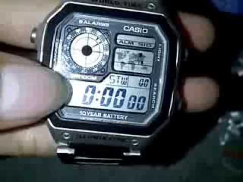 Jam tangan CASIO AE-1200-WH Original (10 Year Life Battery) Outboxing and  Fature - YouTube 888bb8db81