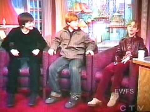 Emma Watson and Rupert Grint on Rosie O'Donnel 2001