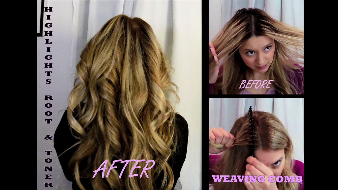 How To Do Hair Highlights At Home Color Roots Plus Toner 2017 Jackieeffex