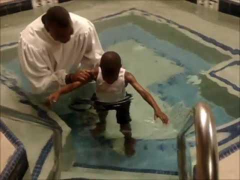 Elijah,7, gets Baptized...Funny yet Emotional:)