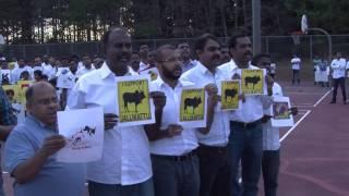 Atlanta Tamil Makkal supports traditional sport Jallikattu - GA