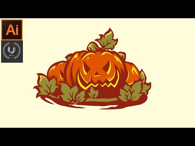 Adobe Illustrator CC Tutorial - How to Make Beautiful Halloween Background Design