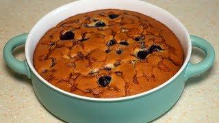 Суперлегкий вишневый пирог за 5 минут + время на выпечку. Проверенный рецепт.