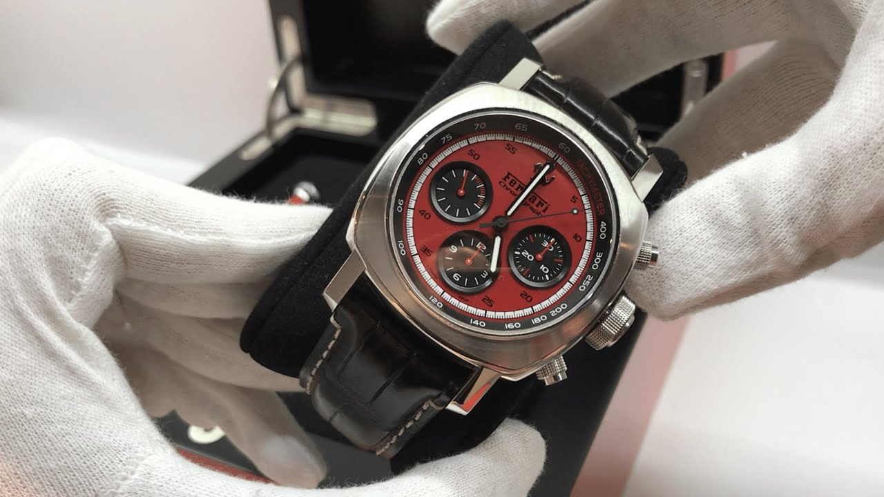 Panerai Ferrari Granturismo Chronograph Red Reference Fer00013 Youtube