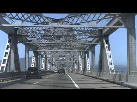 A Drive Through The Richmond -- San Rafael Bridge Westbound (John F. McCarthy Memorial Bridge)