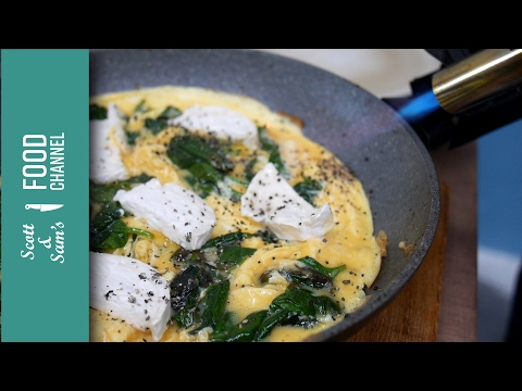 3 Minute Spinach & Goats Cheese Omelette, Low Carb