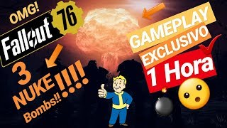 Fallout 76: 1 HORA de GAMEPLAY exclusivo! 😲 (Bomba Nuclear)😰