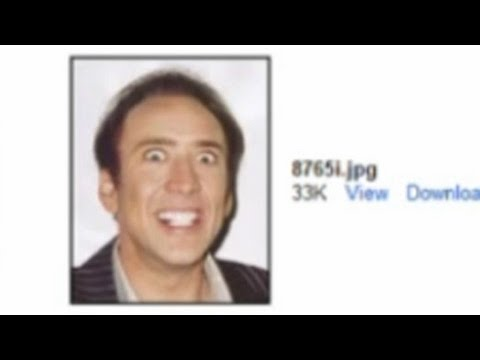 nicolas cage pic sent instead of resume youtube