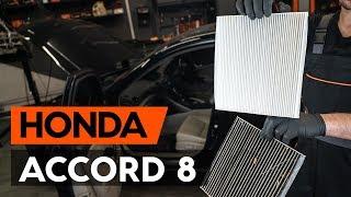 Montage Filtre d'Habitacle HONDA ACCORD VIII (CU) : vidéo gratuit