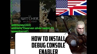 How to install debug-console-enabler in Witcher 3(version 1.31)