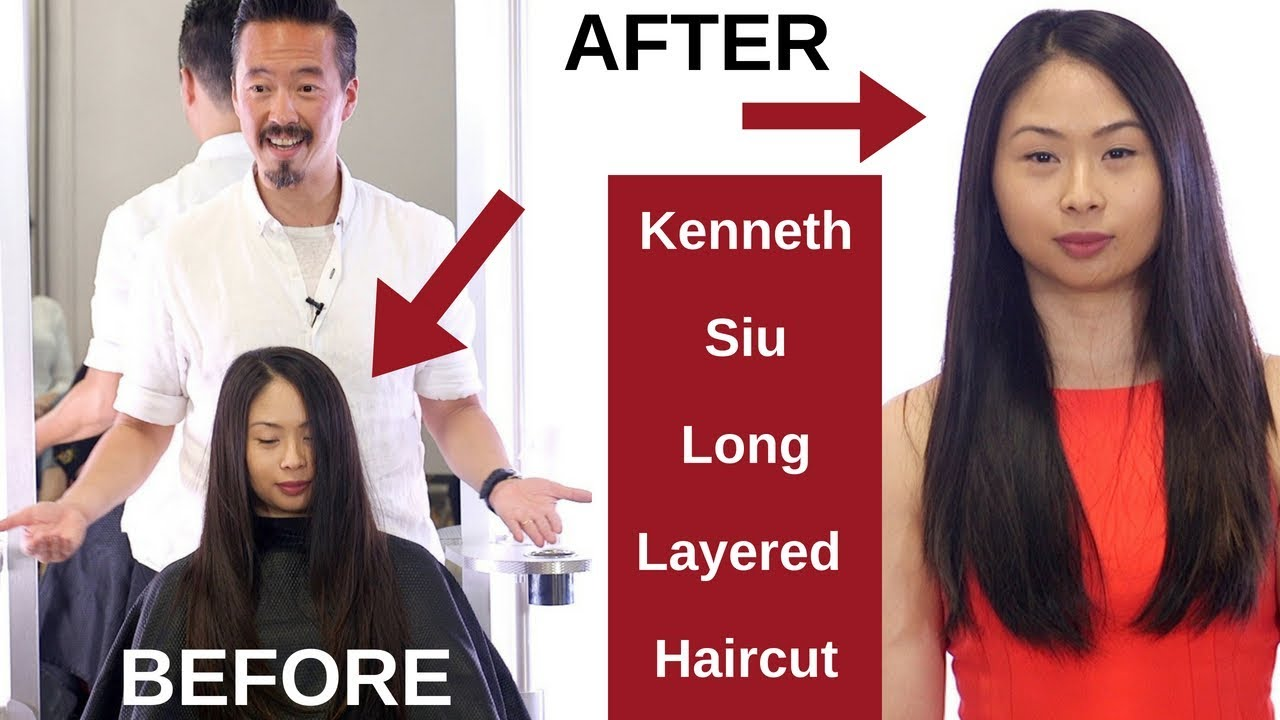 Kenneth Siu Long Layers Haircut On Asian Hair Thesalonguy Youtube