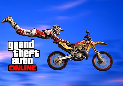 GTA V Online - CORRIDA MOTOCROSS INSANA! Like A X Games