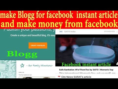 """Make blogg for 'Facebook Instant Article' """"FREE"""" 