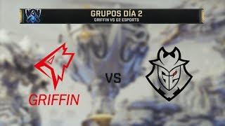 GRIFFIN VS G2 ESPORTS | WORLDS 2019 | GRUPOS DÍA 2 | League of Legends