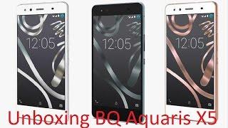 unboxing BQ Aquaris X5 Cyanogen