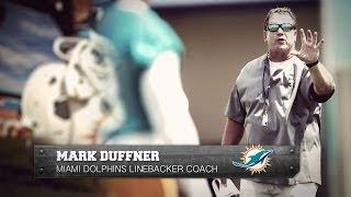 Miami Dolphins linebacker drills
