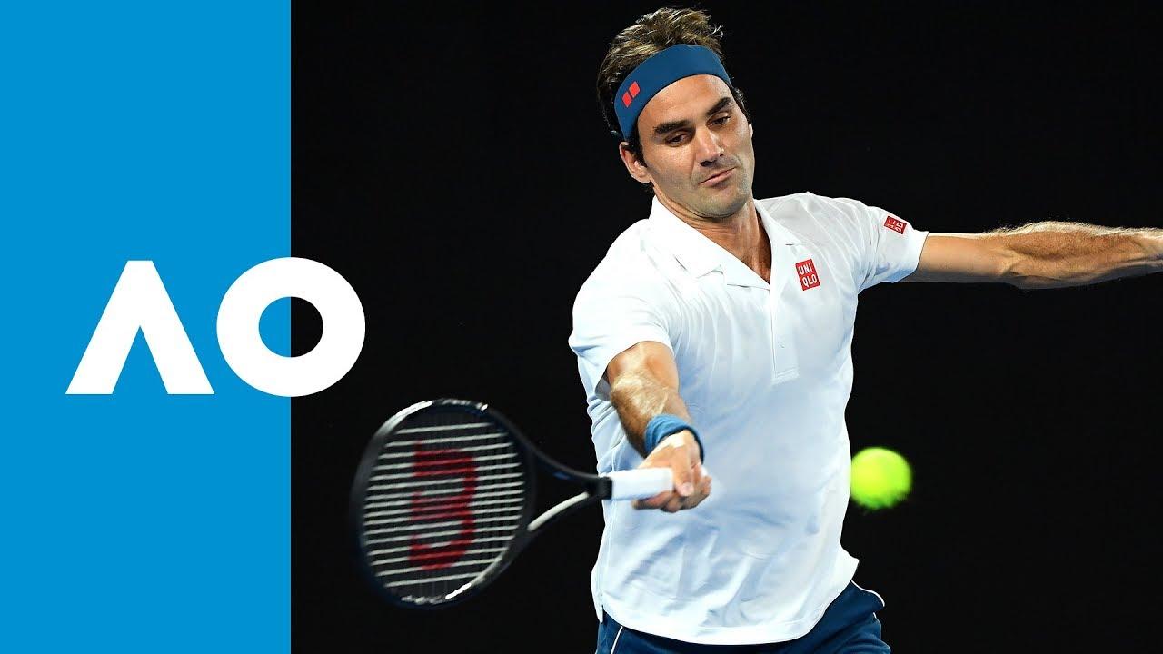 Federer takes the first set (3R) | Australian Open 2019