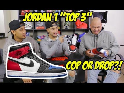 """JORDAN 1 """"TOP 3"""" DID YOU COP? + UP-CLOSE DETAILED LOOK!"""