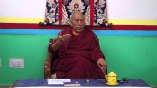 "Prof. Samdhong Rinpoche talks on ""Buddhist perspective of impermanence and dying"""