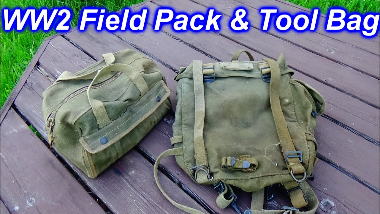 US WW2 Field Pack & Tool Bag Auction Find for my Military Collection