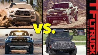 Ranger Raptor vs ZR2 vs Tacoma TRD Pro vs Jeep Truck: Fantasy Truck League Mashup