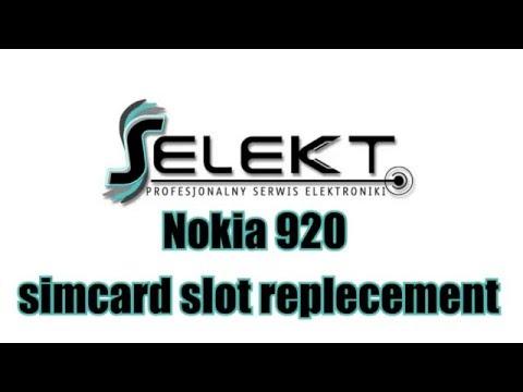 Nokia Lumia 920 replacing sim card slot step by step tutorial Full Update