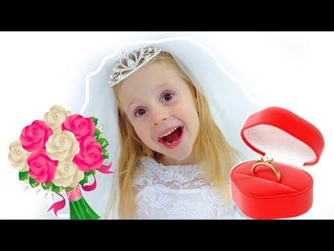 Настя как невеста и принцесса