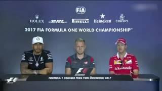Hamilton, Vettel & Magnussen - 2017 Austrian GP - Drivers Press Conference