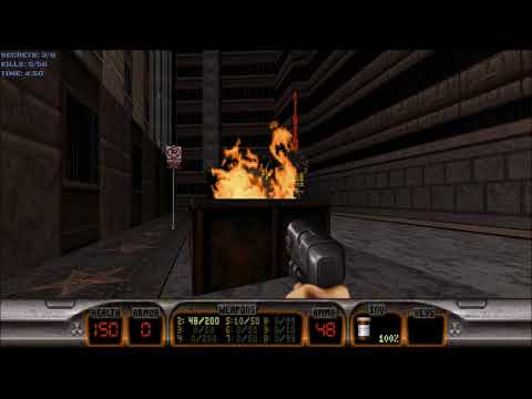 Duke Nukem 3D (100%) Walkthrough (E1L1: Hollywood Holocaust)