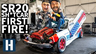Sh*tcar LIVES! Wiring and Firing Our SR20 Swapped $350 BMW With Jimmy Oakes