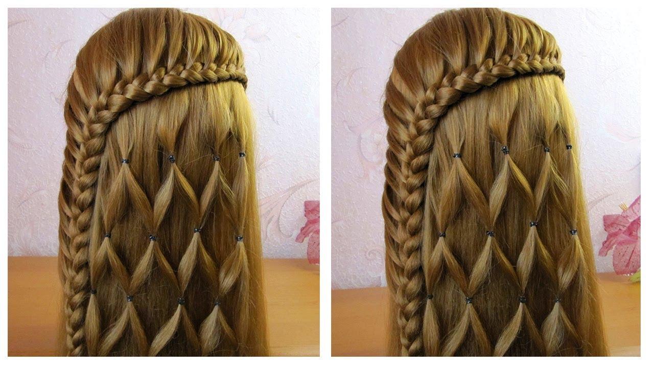 Tuto coiffure simple 🌺 Belle coiffure facile à faire cheveux long/mi long 🌺 Coiffure pour l'ete ...