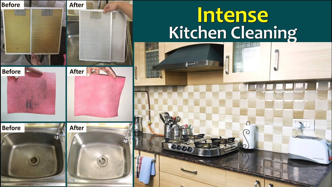 Kitchen Cleaning Hacks | How To Deep Clean Your Kitchen | Kitchen Cleaning  Tips & Tricks