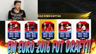 UEFA EURO EM 2016 FUT DRAFT!! - FIFA 16: ULTIMATE TEAM (DEUTSCH)