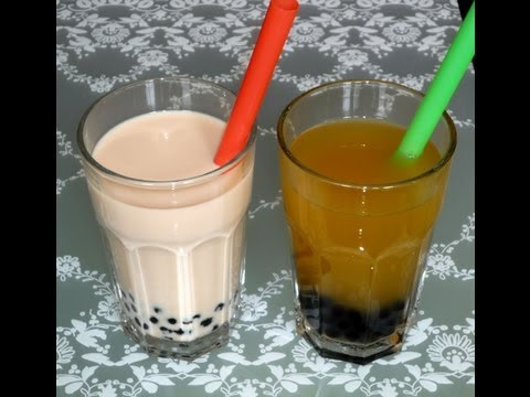 Bubble Tea mit Tapioka-Perlen (Bubble Tea/Pearl Milk with Tapioca Pearls)