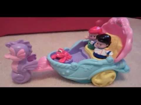 Fisher-Price Little People Princess Ariel's Coach Unboxing And Review