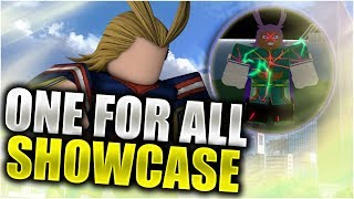 ONE FOR ALL / SHOOT STYLE FULL SHOWCASE | Heroes Online | Roblox
