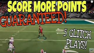 SCORE MORE POINTS! 5 GLITCH Pass Plays to INSTANTLY BOOST Your Offense in Madden 20!