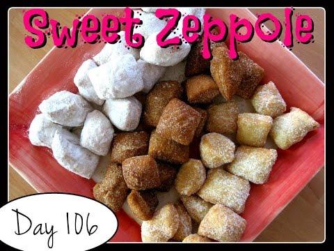 Sweet Zeppole (Italian Doughnuts) Recipe [Food Challenge: DAY 106]
