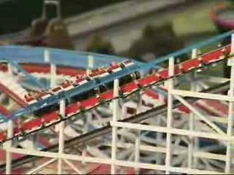 Lionel 'O' gauge trains & amusement park roller coaster