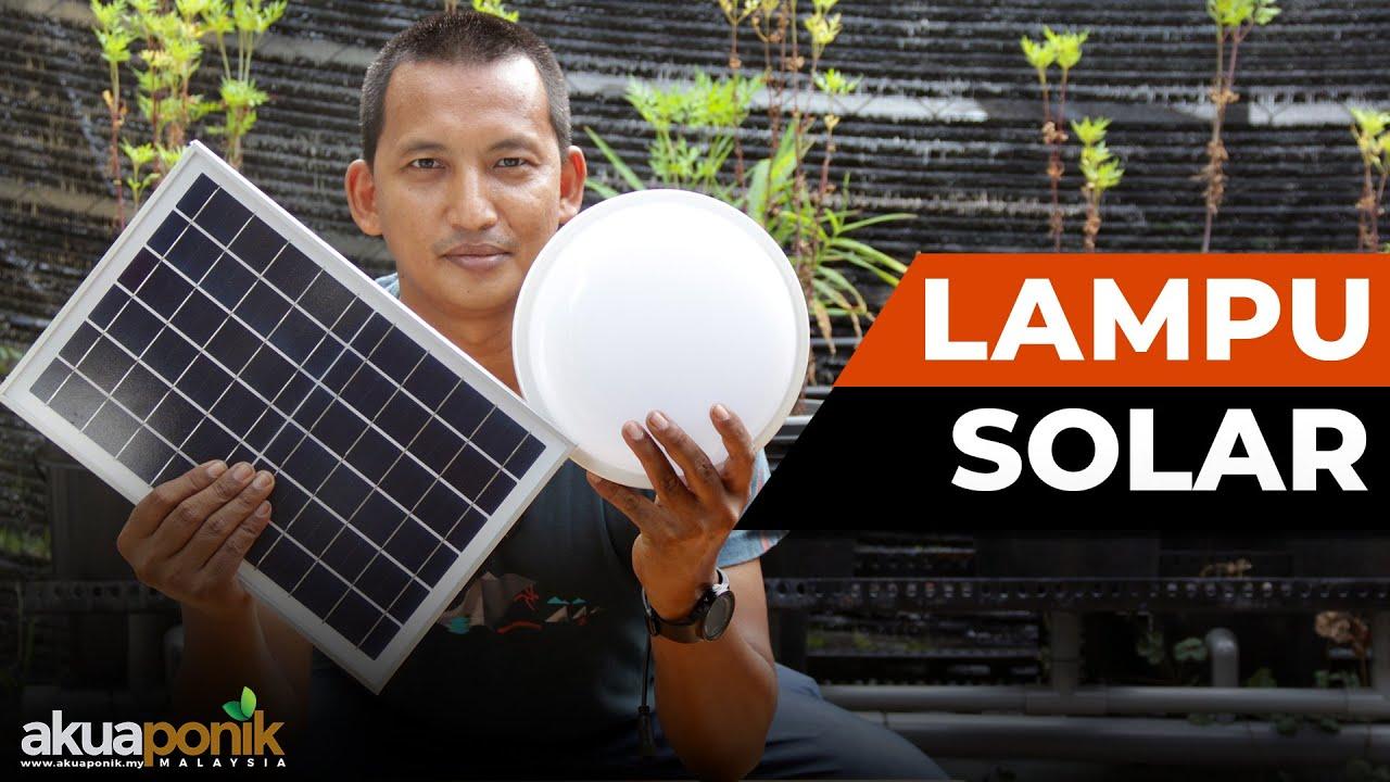 Lampu Siling Tenaga Solar Yang SIMPLE & Paling MUDAH Pasang   Untuk RUMAH & CAMPERVAN