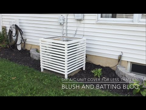 DIY A/C Unit Cover For Less Than $20 | Blush And Batting Blog