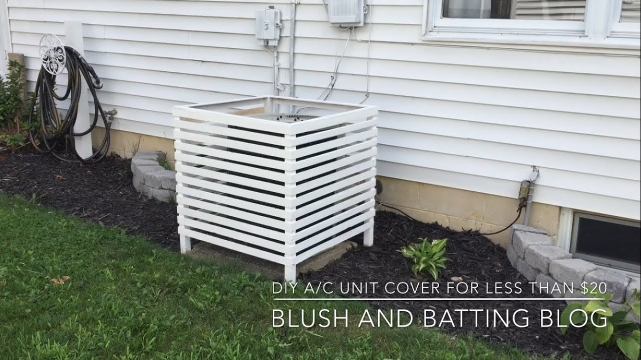 Diy A C Unit Cover For Less Than 20 Blush And Batting